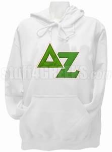 delta zeta pullover hoodie sweatshirt with greek letters With delta zeta letter sweatshirts
