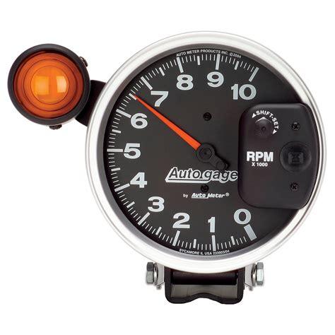5 quot pedestal tachometer 0 10 000 rpm shift light black