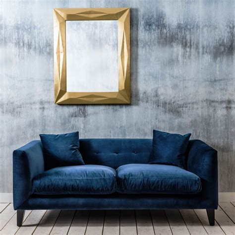furniture trendy blue velvet couch design  inspired  furniture decorating ideas