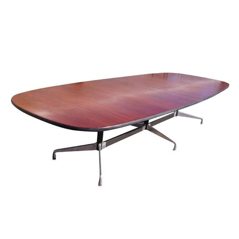 herman miller conference table vintage eames herman miller mid century wood conference