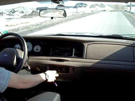 Ford Crown Victoria 5 speed manual open exhaust - YouTube