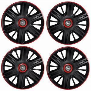 Radkappen 16 Zoll : 4 x radkappen radzierblenden universal 16 zoll schwarz rot ~ Kayakingforconservation.com Haus und Dekorationen