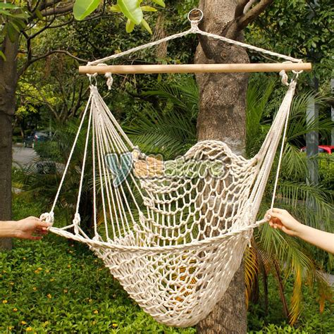 How To Weave A Hammock Chair by Hanging Swing Chair Weave Rope Hammock Outdoor Porch Yard