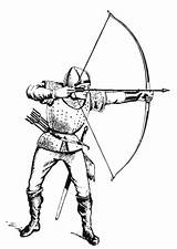 Medieval Archer Drawing Soldiers Coloring Getdrawings sketch template