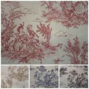 Toile De Jouy : toile de jouy print 100 cotton craft upholstery fabric ebay ~ Teatrodelosmanantiales.com Idées de Décoration