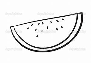 watermelon slice clipart black and white - Clipground