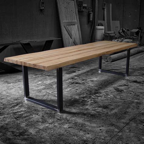 tavolo ferro legno vik tavolo in legno massello e gambe in ferro