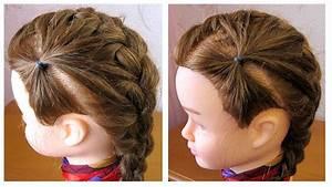 Tresse Cheveux Courts : coiffure facile cheveux court tresse sur le c t coiffure pour fille youtube ~ Melissatoandfro.com Idées de Décoration