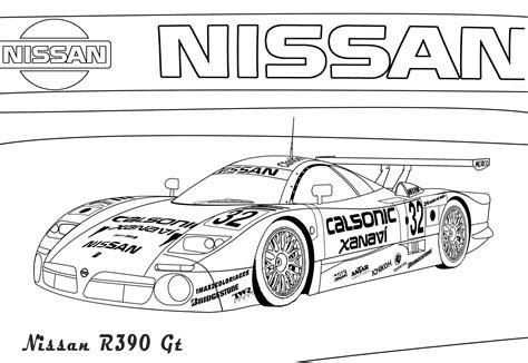 Gtr Kleurplaat by Nissan Gt R R35 Coloring Pages
