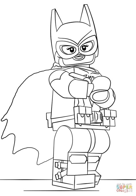 Batman Kleurplaat Lego by Lego Batgirl Coloring Page Free Printable Coloring Pages