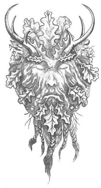 Gallery For: The Green Man Tattoo | Green man tattoo, Tattoo designs men, Pagan tattoo