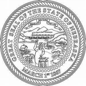 Nebraska Flags Emblems Symbols Outline Maps