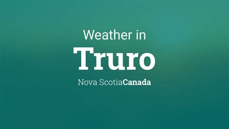 weather  truro nova scotia canada
