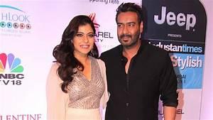 CUTE Kajol With Husband Ajay Devgan At HT Style Awards ...