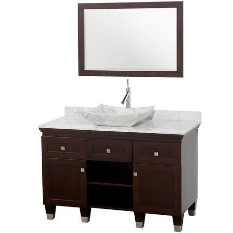 48 quot premiere 48 espresso bathroom vanity bathroom vanities bath kitchen and beyond