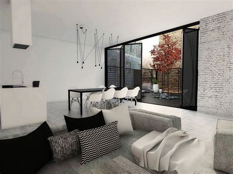 Three Striking Modern Home Designs by 3 White Themed Homes With Striking Modern Minimalist