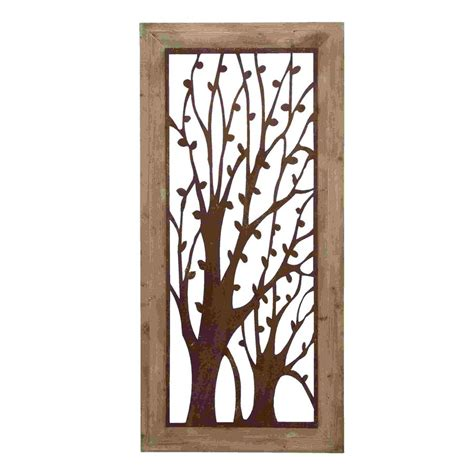 Shop Woodland Imports 26in W X 56in H Framed Metal