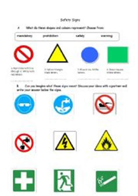 Printables Safety Signs Worksheets Lemonlilyfestival Worksheets Printables