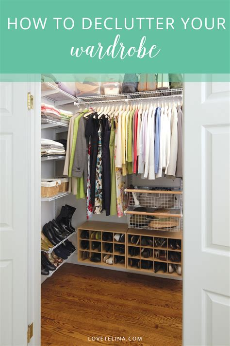 how to declutter your wardrobe telina