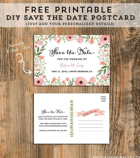 11 Beautiful and Free Save the Date Templates Free