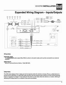 Expanded Wiring Diagram  Outputs  Xdvd700