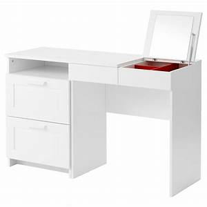 Brimnes dressing table chest of 2 drawers white ikea for Ikea dressing table