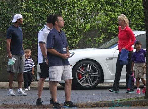 Tiger Woods,Lindsey Vonn,Sam Woods and Charlie Woods at ...