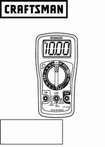 Craftsman 82345 Multimeter Owner U0026 39 S Manual Pdf View  Download