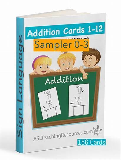 Math Flash Cards Addition Asl Flashcards Sampler