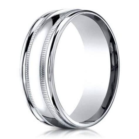 benchmark men s wedding ring in 950 platinum with milgrain