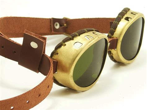 Steampunk Goggles Solid Brass Oval Goggles With Tinted