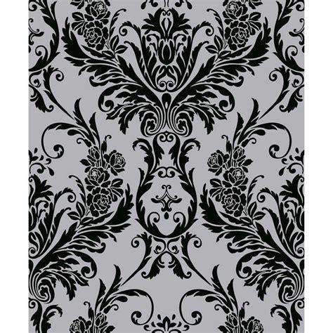 Debona Medina Damask Wallpaper   Black   Decorating, DIY