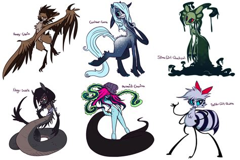 Monster Girl Challenge Day: 1-6 by fizzycurrant on DeviantArt