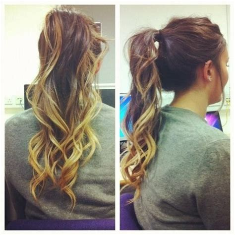 Curled Dip Dye Ponytail Hair And Beauty Pinterest