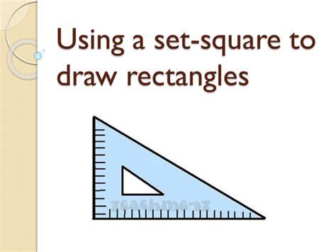 set square  draw rectangles  poleyjo