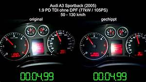 Audi A3 Sportback 1 9 Tdi Chiptuning Tachovideo