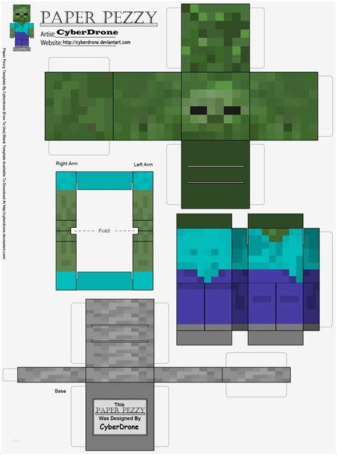 Together we bring papercraft to everyone. Papercraft Vorlagen Kostenlos Erstaunlich Paper Pezzy Zombie Minecraft by Cyberdrone On ...