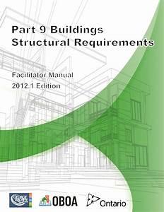 Part 9 Buildings  U2013 Structural Requirements 2012  U2013 Building