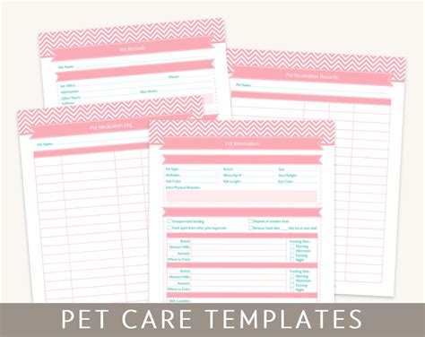 Pet Care Templates Editable Pdf Files For A4 And Letter