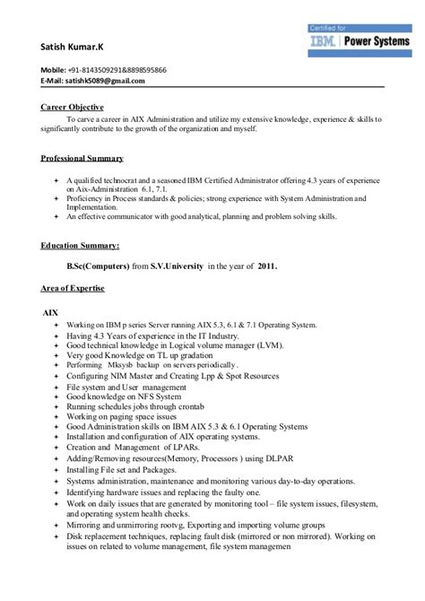 Aix Resumeaix Resume new updated aix resume