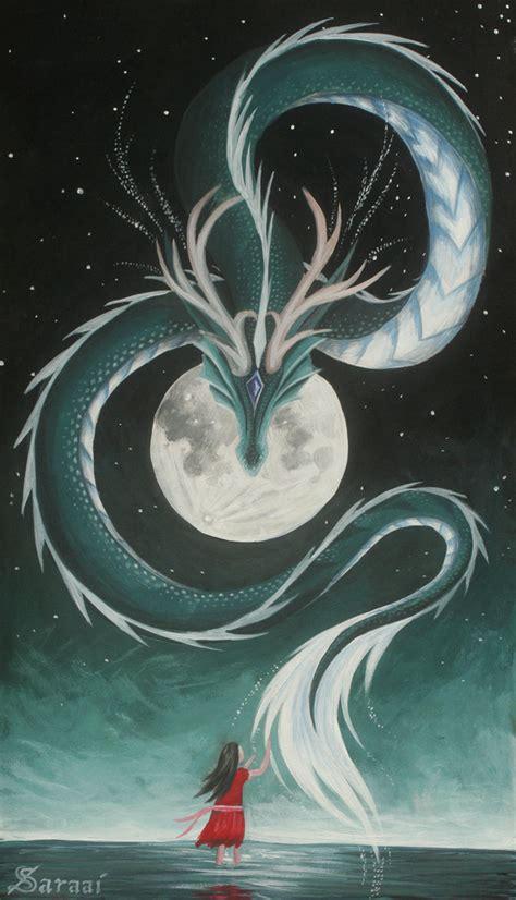 Miyazaki Spirited Away Wallpaper The Girl And The Moon By Saraais On Deviantart