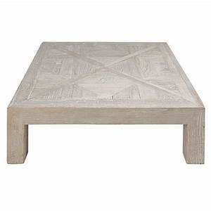 table basse en orme massif recycle blanchi bruges With table basse orme massif