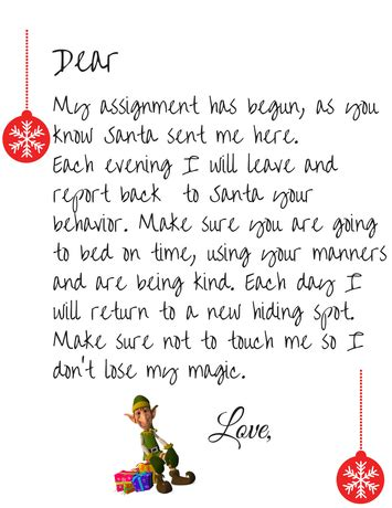 elf on the shelf letters printable free on the shelf welcome letter printable simple 21466 | Elf Welcome Letter