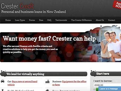 crester credit business loans  nz loansfinder