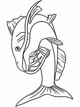 Catfish Coloring Pages Iceberg Fish Printable Bluegill Minecraft Getcolorings Getdrawings sketch template