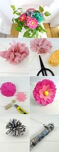 Papierblumen Aus Servietten : fr hlingsstrau aus papierblumen basteln so geht 39 s basteln f r muttertag und vatertag ~ Yasmunasinghe.com Haus und Dekorationen