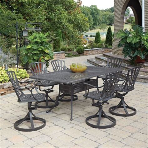 walmart patio table and 6 chairs home styles largo 7pc outdoor dining set includes