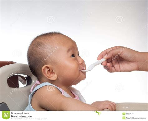 Baby Starting On Solids 5 Royalty Free Stock Photos