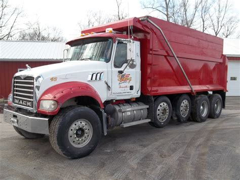 2007 mack gu713 granite axle dump truck for sale
