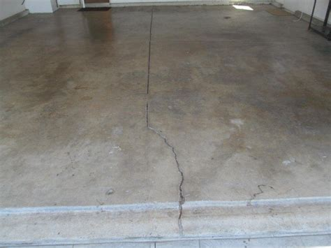Cracked Concrete Floor Garages Or House Slab  Buyers Ask